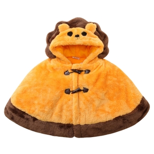 Fall and winter baby cloak baby cape thick section molding cute little lion men and women