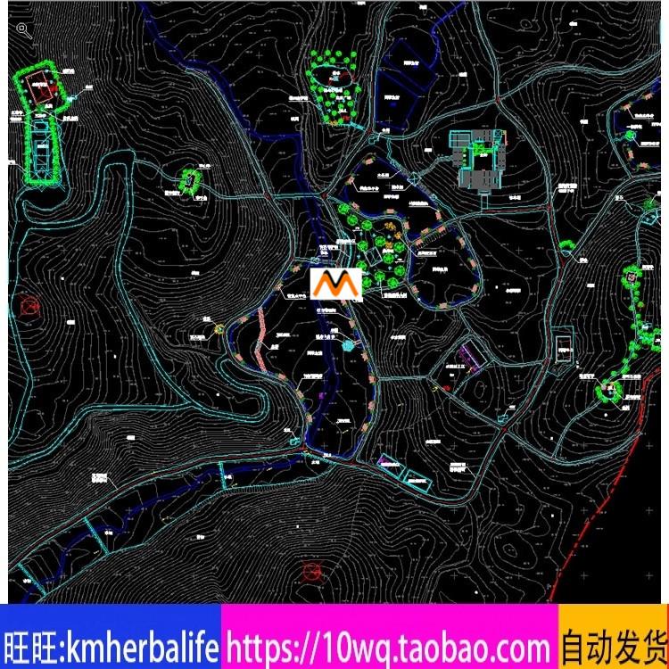 L234大型农家乐休闲娱乐会所避暑山庄旅游景观规划总平面CAD图纸