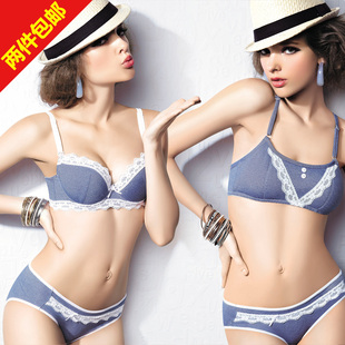 Two original single Japanese girl bra vest developmental stages of the student movement underwear thin cotton lace