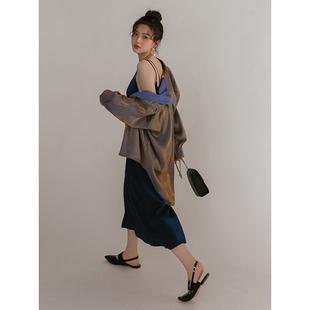 LOVEHEYNEW时尚人鱼姬衬衫套装两件套女宽松轻熟风女装加吊带裙