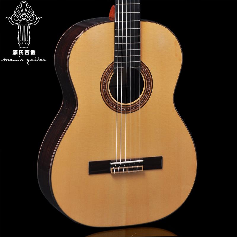 广州满氏手工古典吉他标准39寸全琴(用1元券)