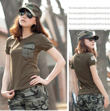 Free base elite tribe with female U.S. military uniform army green military uniform t-shirts with short sleeves