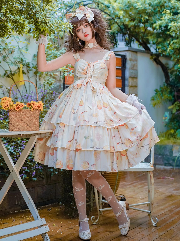 Original Lolita skirt | honey lemon | 4.2m skirt jsk
