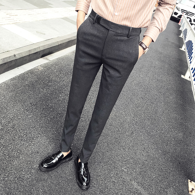 黑色商务休闲百搭西裤