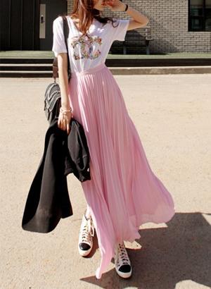 [转卖]【蘑菇街】推荐2013夏装欧美长裙半身裙百褶裙拖…