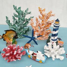 仿真树脂珊瑚水族玻璃鱼缸地台装饰造景玄关酒柜家居海鲜店铺摆件