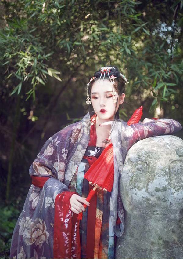 汉服出租【司南阁】胭脂 齐胸全套 正版汉服 年会活动 成年礼摄影