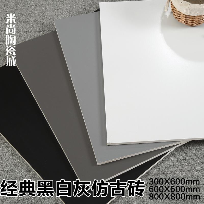 Чистый белый черный серый цвет имитации древний кирпич керамическая плитка 600X600 кирпич штейн глубина серый 800X800 стена цемент