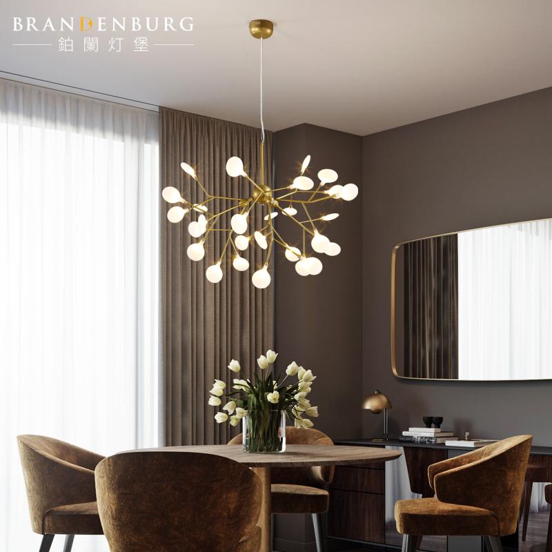 萤火虫吊灯客厅餐厅卧室创意个性led北欧艺术工作室别墅树枝吊灯-铂阑灯堡