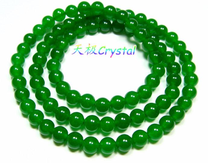 【天极水晶】精美天然绿玉髓手链长52cm~可绕手3圈~可作项链~5折