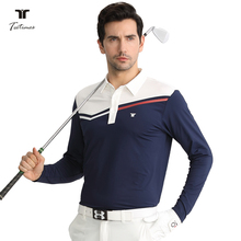 New Golf Men's Coloured Long Sleeve T-shirt Autumn and Winter Golf Apparel Men's Speed Dry and Air-permeable Sportswear Top