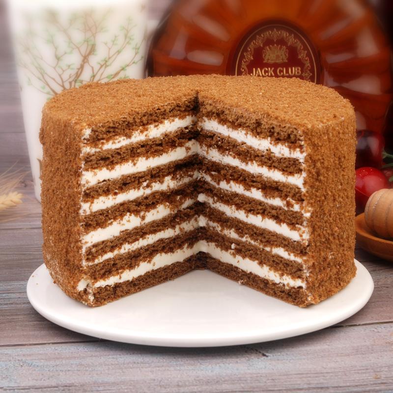 2个*450g包邮俄罗斯风味提拉米苏蛋糕点甜食千层奶油蜂蜜网红食品
