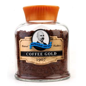 包邮俄罗斯进口老教授世家速溶浓缩黑咖啡豆苦味冻干粉末颗粒100g
