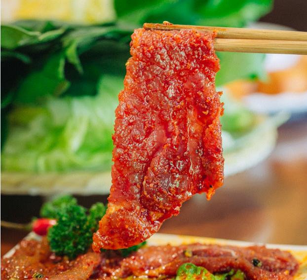 麻辣牛肉片 四川重庆火锅风味 麻辣牛肉冷冻火锅配菜 150g