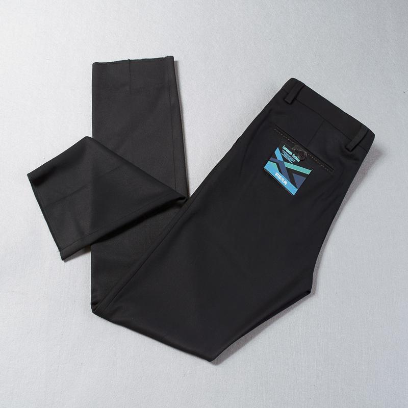 秋冬新款复合磨毛休闲长裤男直筒修身不易褶皱保暖时尚商务男西裤