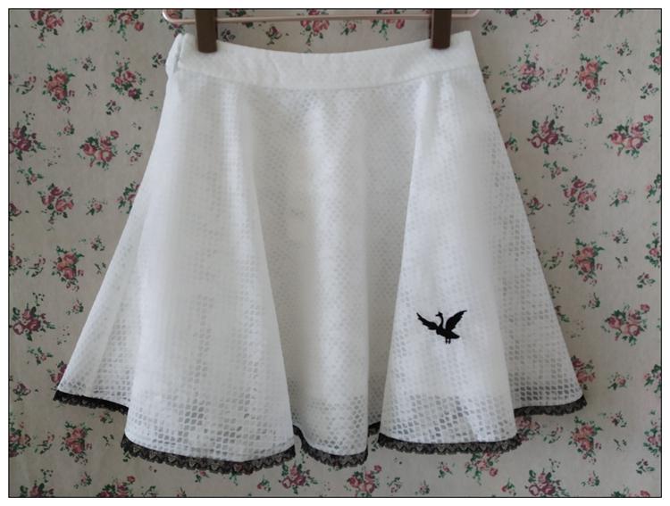 特价专柜正品淑女屋2016夏 天鹅湖公主白色复合蕾丝单裙女裙XSS28