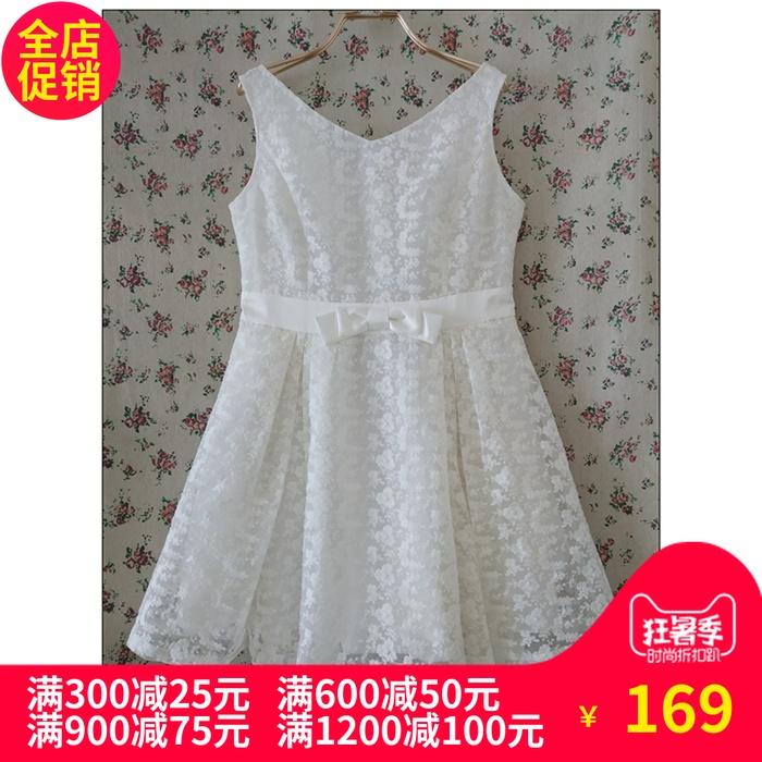 淑女屋装专柜正品《蝴蝶公主》米白绣花仔连衣裙XSF03款980