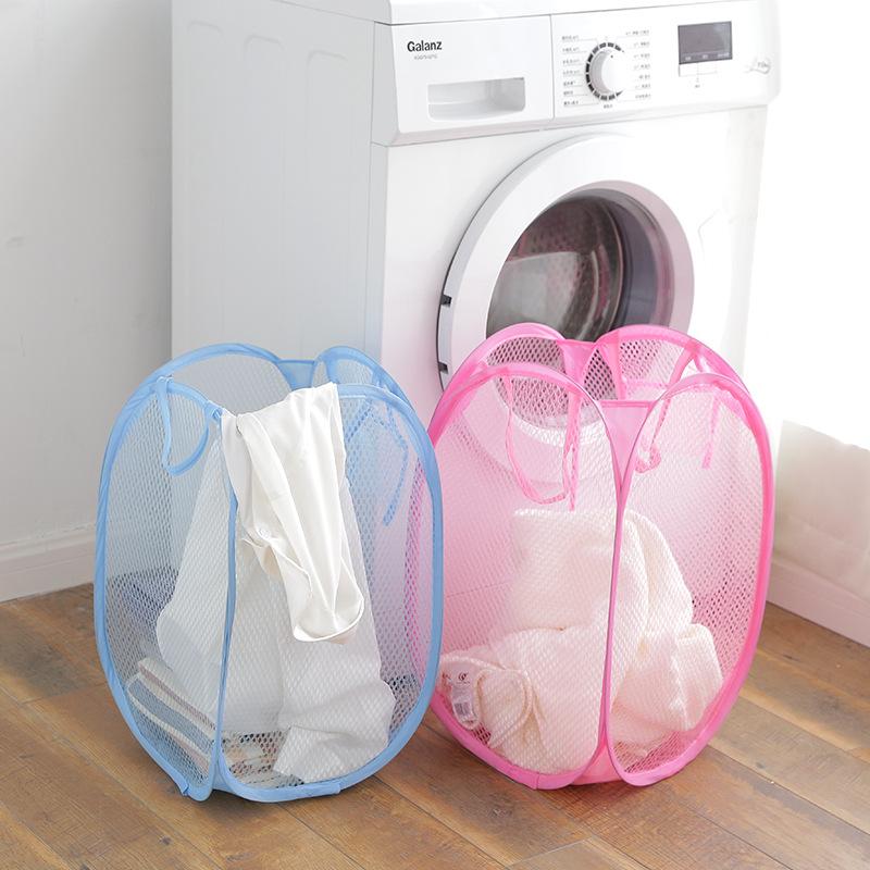 大号彩网脏衣篮篮子可折叠脏衣收纳篮脏衣篓洗衣篮脏衣服收纳筐