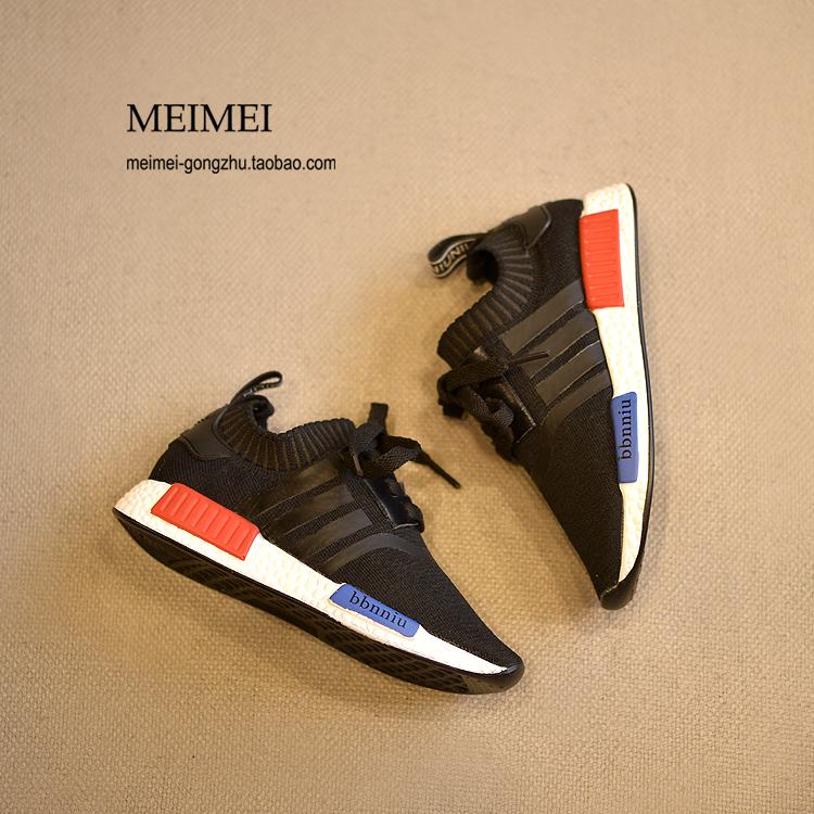2016 весна детская обувь девочек трикотажная дышащей легкие кроссовки мальчиков обувь повседневная обувь красный и синий приливов