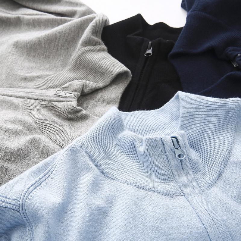 欧洲订单,小资生活!2020初春新款男士立领薄款针织开衫外套外衣