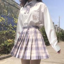 布丁熊原创jk衬衫制服短袖长袖女黑白色衬衣上衣dk学生正版学院风