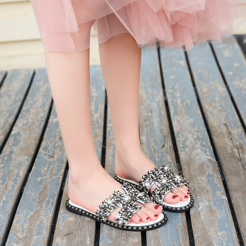 European and American style sandals, fairy Style Slippers, fashionable flat shoes and fashion sandals