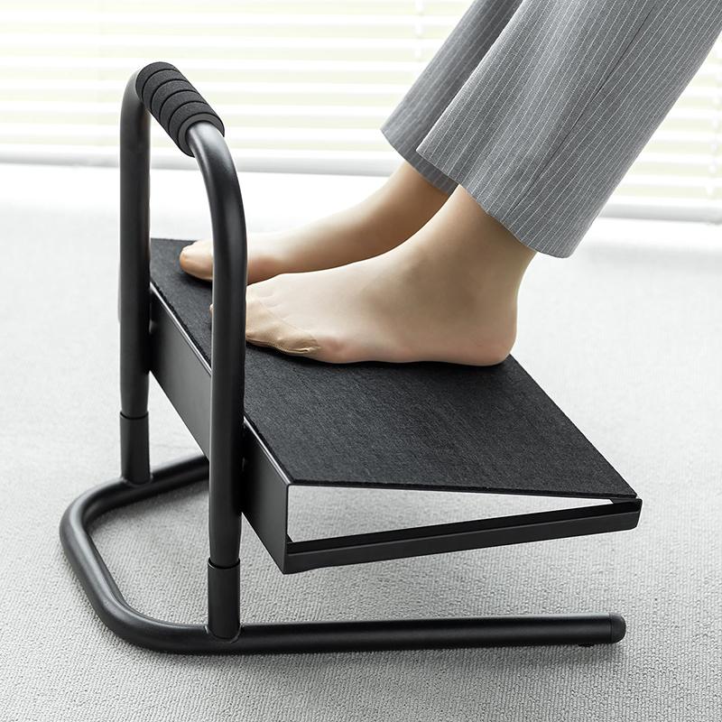 日本SANWA踏脚板 办公室家用升降搁脚垫脚踏可收纳鞋脚凳孕妇踩脚