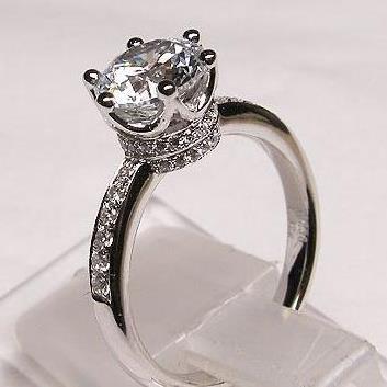 福大生ダイヤモンド18 Kプラチナ70分プロポーズダイヤモンド女性1カラット結婚式プラチナ正品コーナー