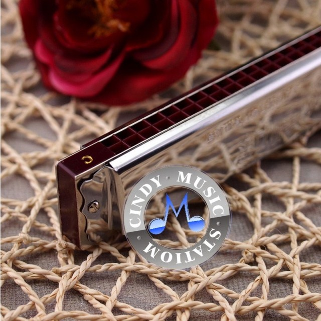 Special price for limited time! Shanghai old brand Guoguang 28 hole single tone special advanced wide range polyphonic major student harmonica