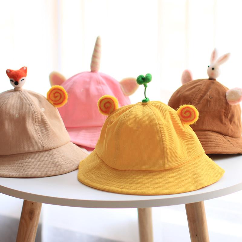 Parent child fisherman hat Cute Japanese male mother child germination hat childrens net red summer thin sunscreen hat