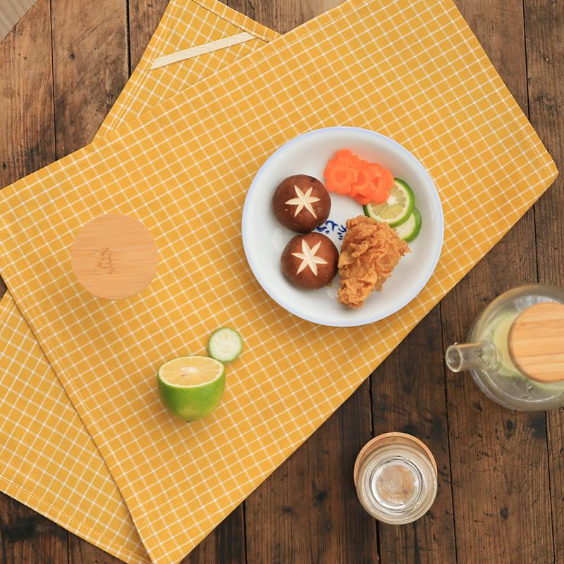 斑斓日式森系棉麻布艺茶巾 餐巾茶布 隔热餐垫 美食拍照背景道具