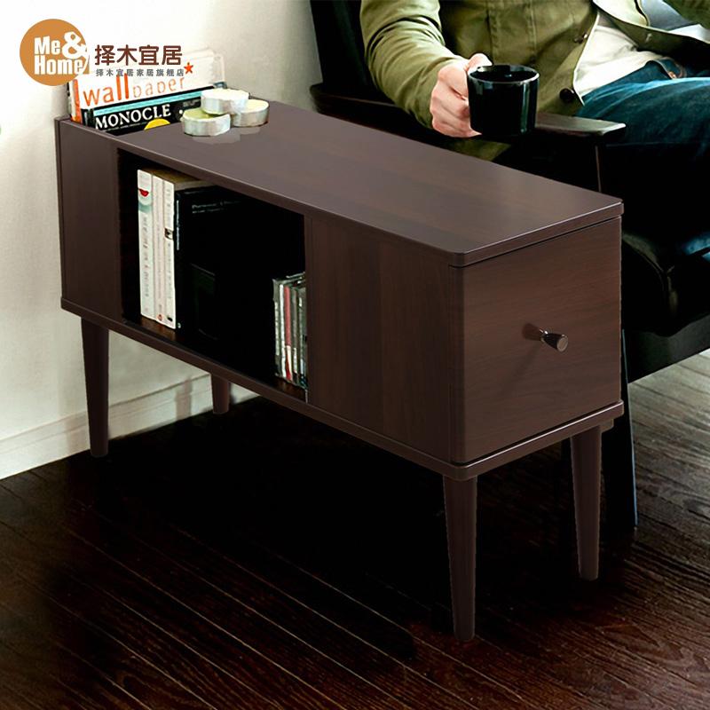擇木宜居 簡約茶幾小戶型客廳邊幾角幾 實木儲物櫃床頭櫃