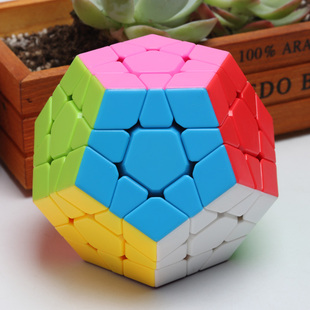 包邮 泛新五魔方异形十二面5魔12面体实色不褪色灵活顺滑益智玩具