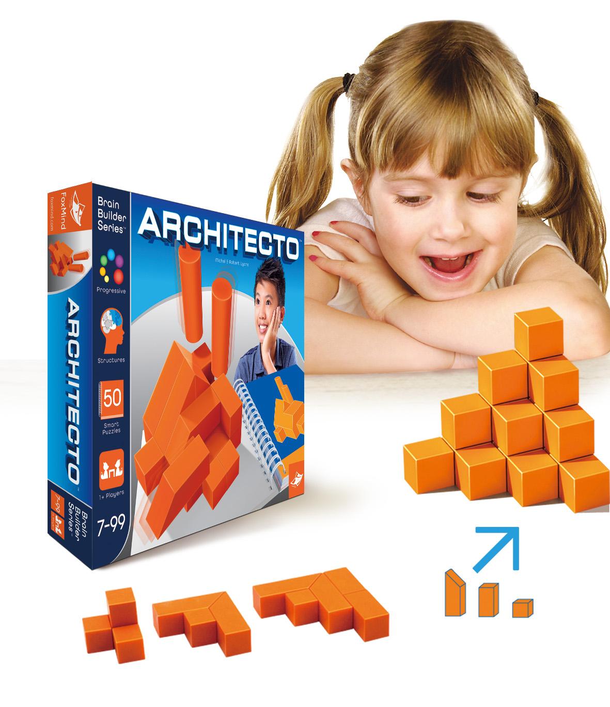 Подлинный foxmind мышление головоломка рабочий стол игра день только здание модельние Architecto здание мастер