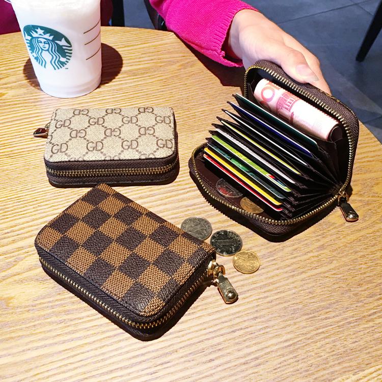 欧美驾驶证套拉链卡包女式男士风琴卡夹信用卡套小零钱包卡片包潮