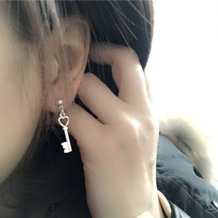 HA可爱的小钥匙2款欧美古着孤品库存原单出口耳环复古外贸