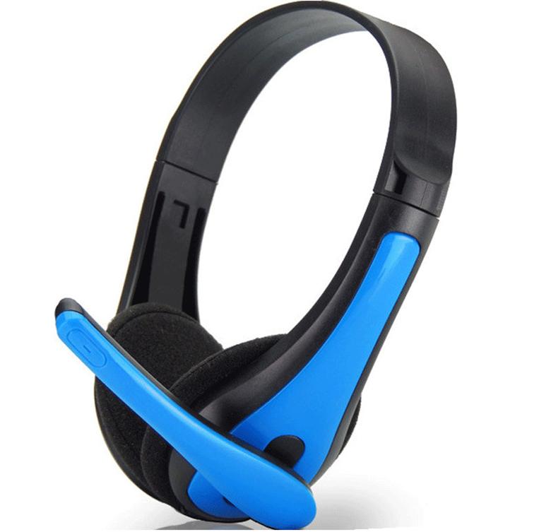 包邮 时尚潮电脑笔记本手机头戴式耳机耳麦 游戏语音通话单孔双孔
