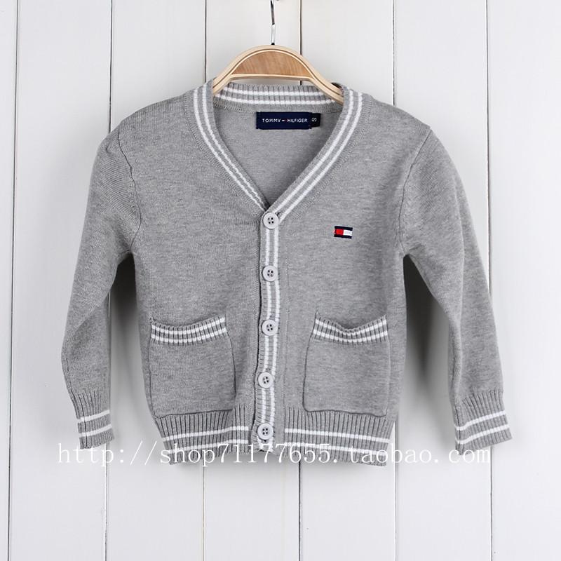 Взрывы популярная детская одежда класса мальчики девочки свитер Кардиган свитера Кондиционер в сплошной цвет рубашки детей свитер