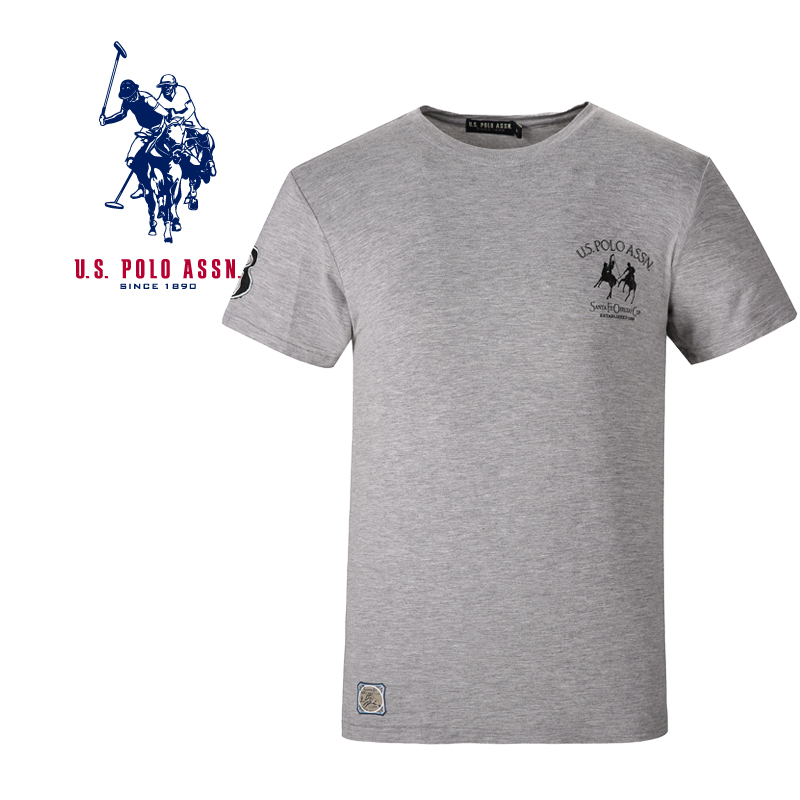 U. S.polo Assn American Polo Association mens short sleeve T-shirt loose cotton mens trendy casual base shirt