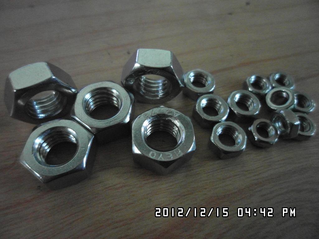 不锈钢国标螺母 不锈钢六角螺母 GB52 M2-M36(M12以下50只起卖)
