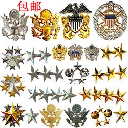 军迷美国1 2 3 4 5星上将军金属徽章金属标军衔肩章胸章船帽帽徽
