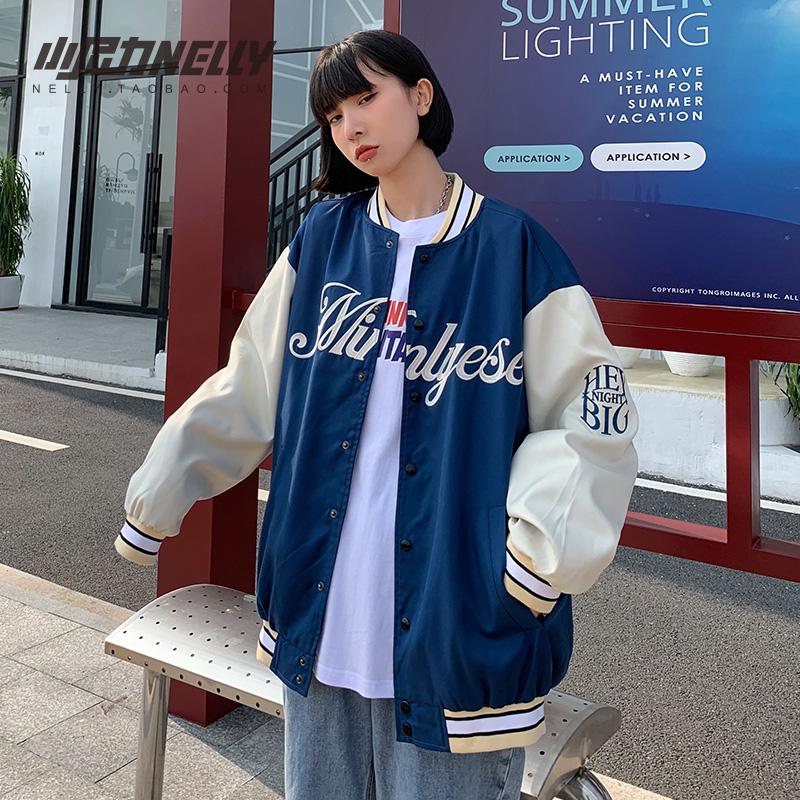ins棒球服男女潮牌春秋教练飞行夹克美式复古着上衣宽松刺绣外套
