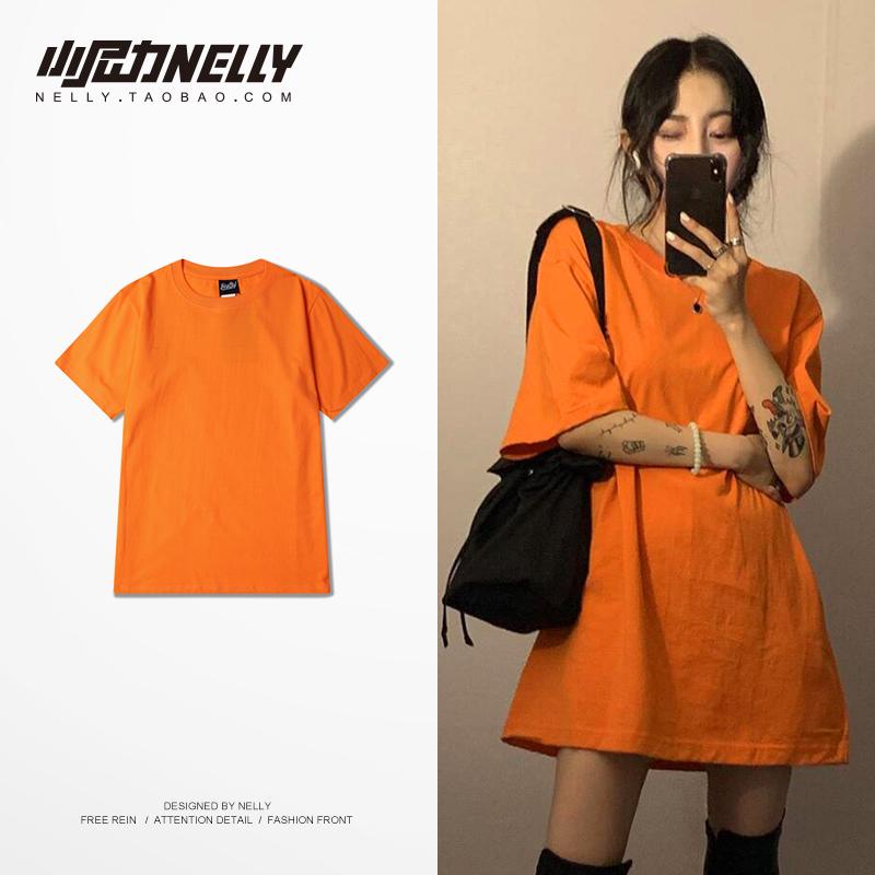 2020新款纯色T恤短袖男学生夏季夏装情侣衣服韩版潮流半袖打底衫