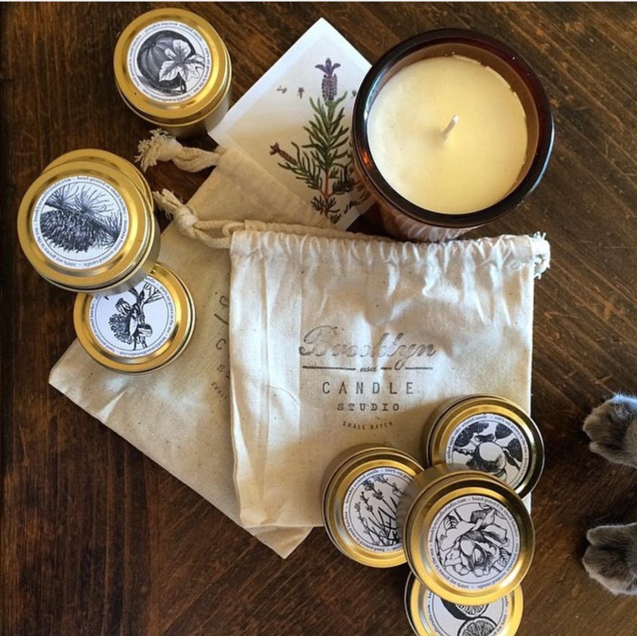 Brooklyn Candle Studio органический большой фасоль ароматерапия свеча золотой путешествие бак сейчас в надичии