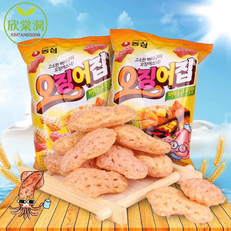 韩国进口零食品  农心鱿鱼脆83g 香甜可口鱿鱼味膨化 休闲零食