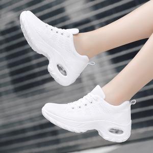 白色回力女鞋跑步运动鞋春夏网面透气休闲鞋气垫旅游鞋跳舞单鞋