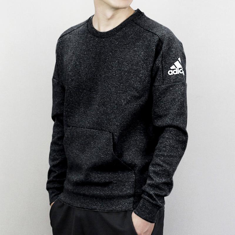 满189.00元可用1元优惠券Adidas阿迪达斯男装2019秋季新款运动卫衣针织休闲套头衫CG2098