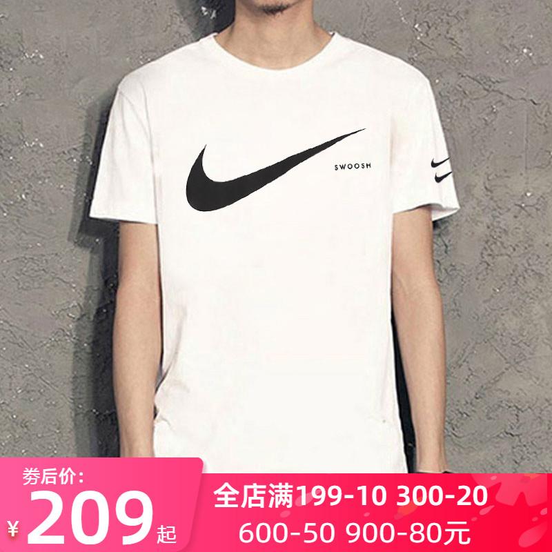 Nike耐克短袖男t恤潮2020新款双勾半袖宽松透气大勾运动服CK2253图片