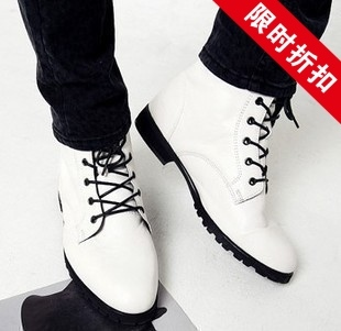 Men s Single shoes high state of England tide Martin boots high shoes Korean version of casual shoes tide shoes men shoes fashion boots