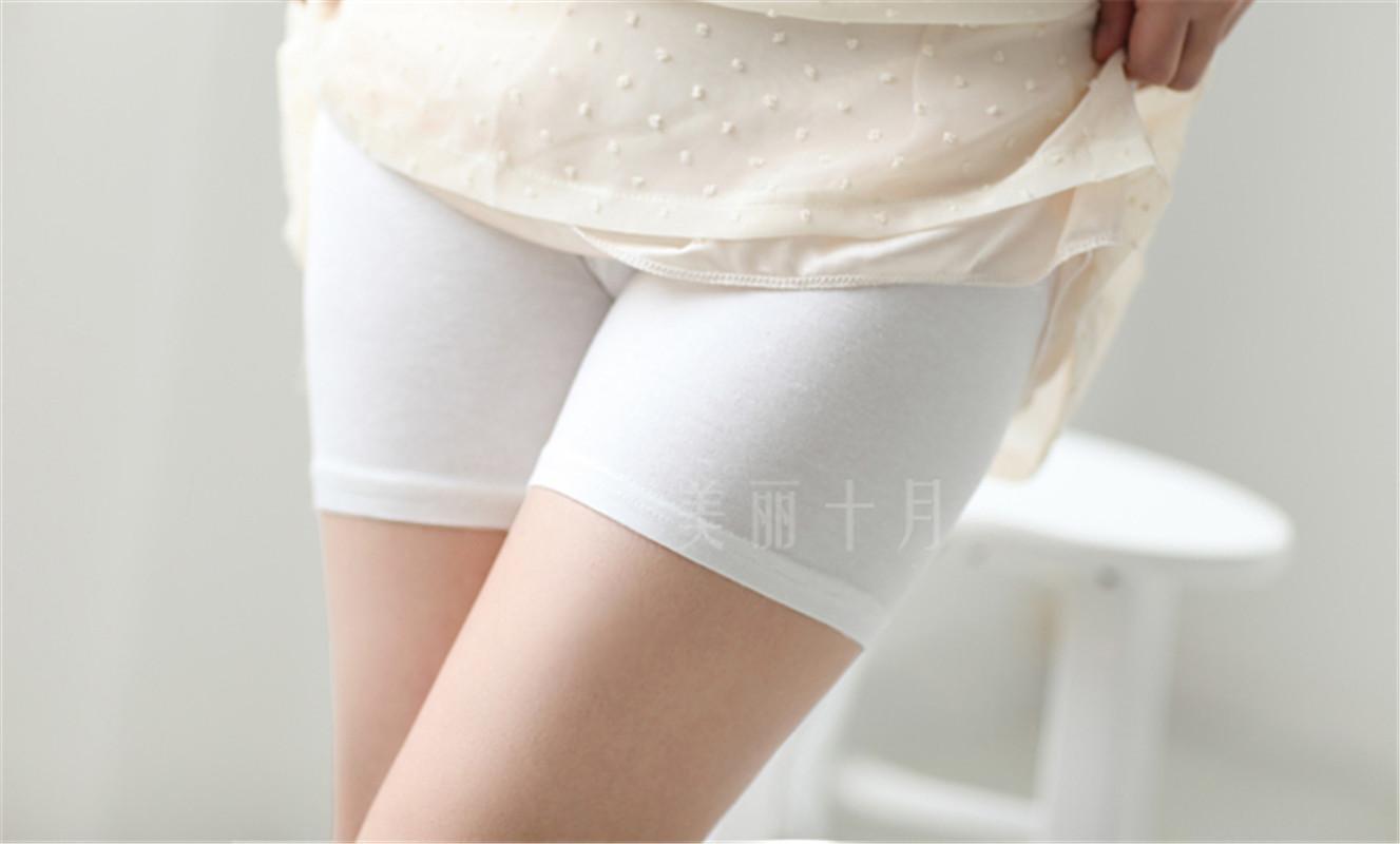 多色孕妇安全裤打底短裤裙子搭档莫代尔大弹力一条穿到生高腰可调